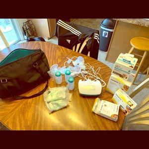 Handbags - Evenflo Breast pump and Accessories